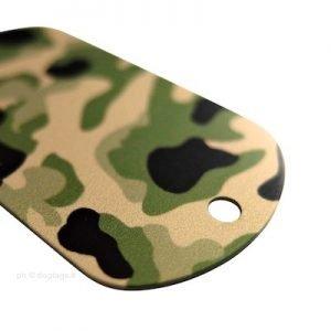dog tags militari mimetiche alluminio