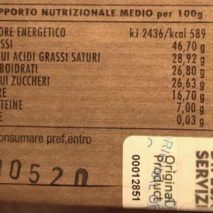 Cioccolato esercito italiano ingredienti